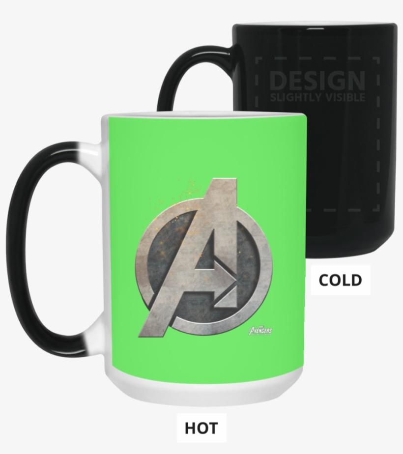 Marvel Avengers Infinity War Steel Symbol Graphic Color - Mug, transparent png #4700741