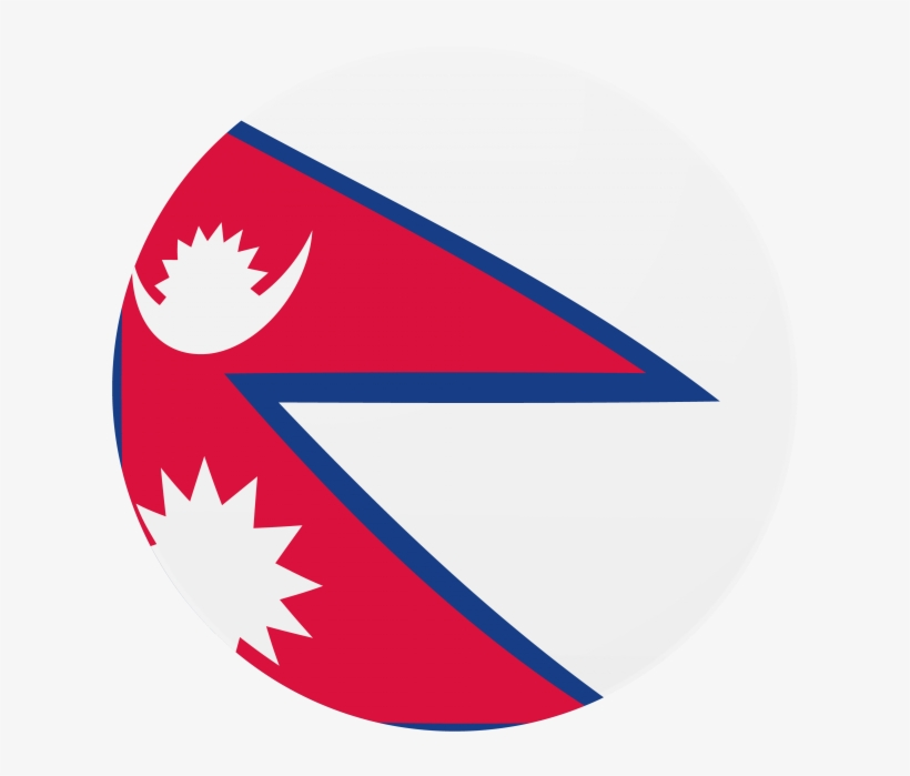 Nepal Round Flag Icon - High Quality Nepal Flag, transparent png #4712929