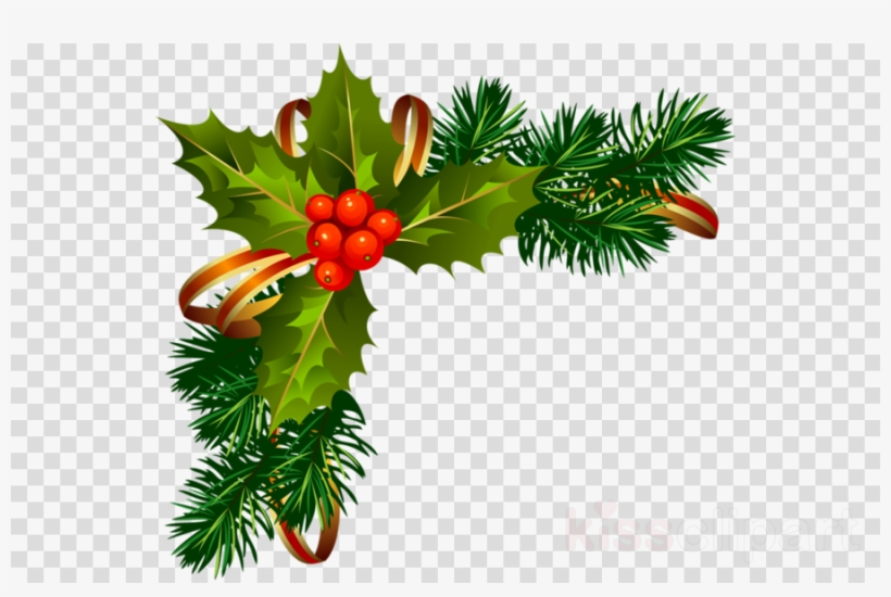 Christmas Frame Png Clipart Borders And Frames Christmas - Christmas Holly Border Png, transparent png #4714560