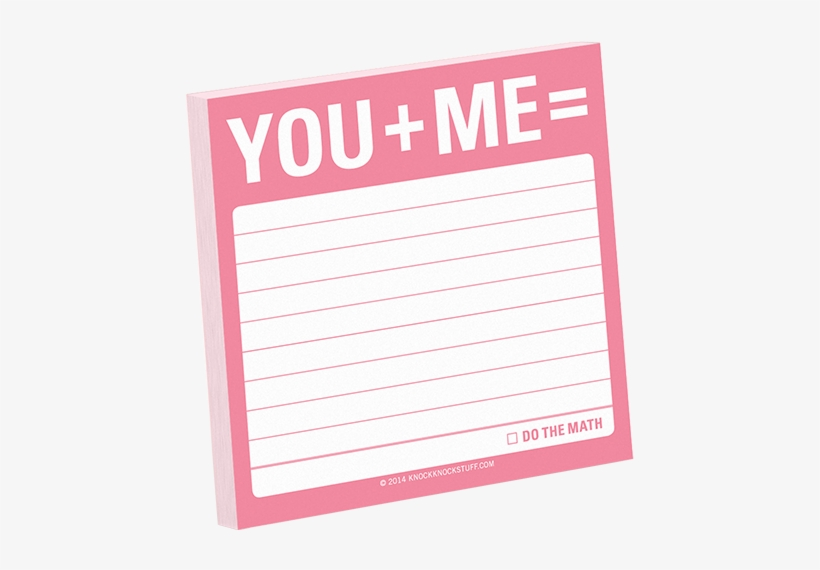 Knock Knock Sticky Note - You + Me Sticky Note (simple Stickies), transparent png #4717787