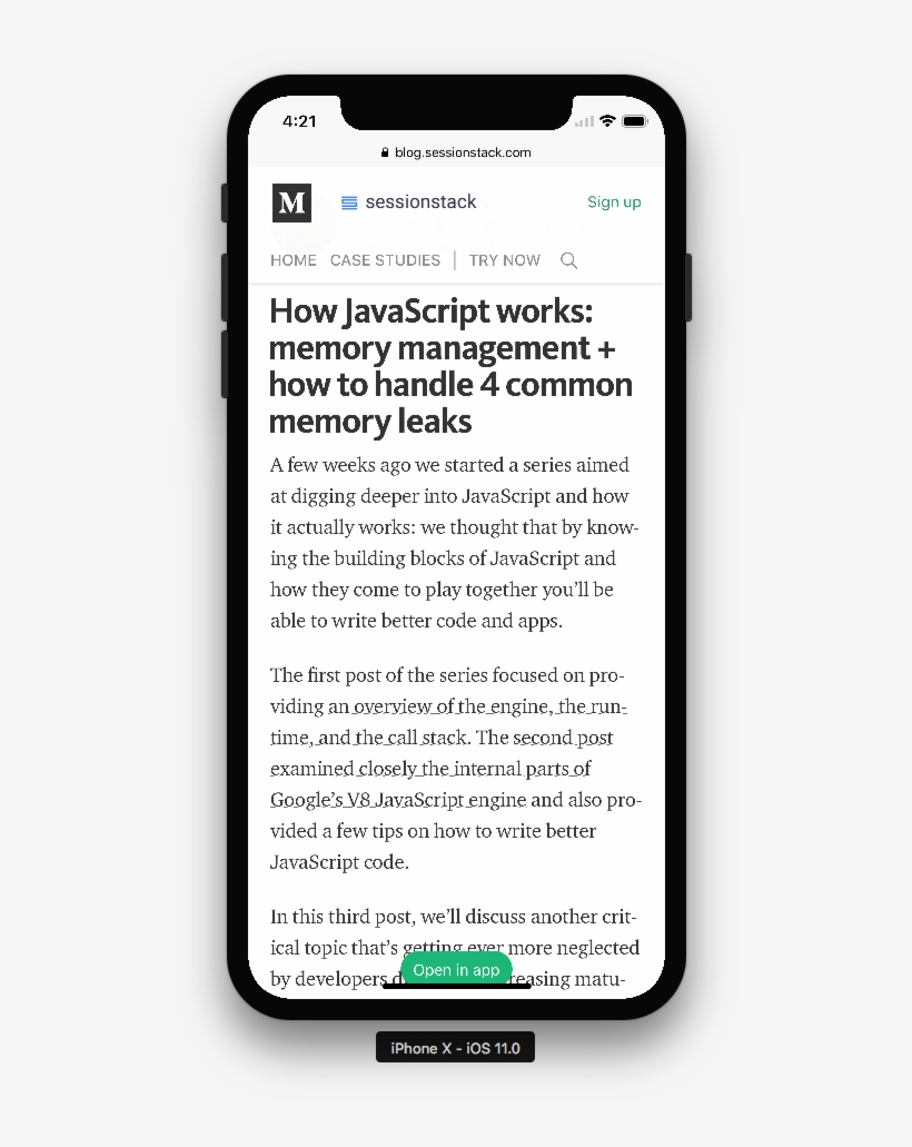 Medium Article With Button Covering Page - Stripe Iphone Payment, transparent png #4721860