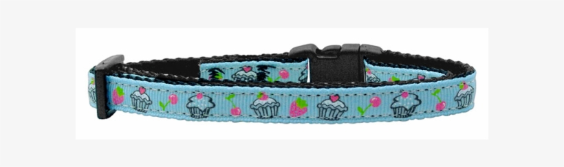 Cupcakes Nylon Ribbon Collar Baby Blue Cat Safety, transparent png #4722851