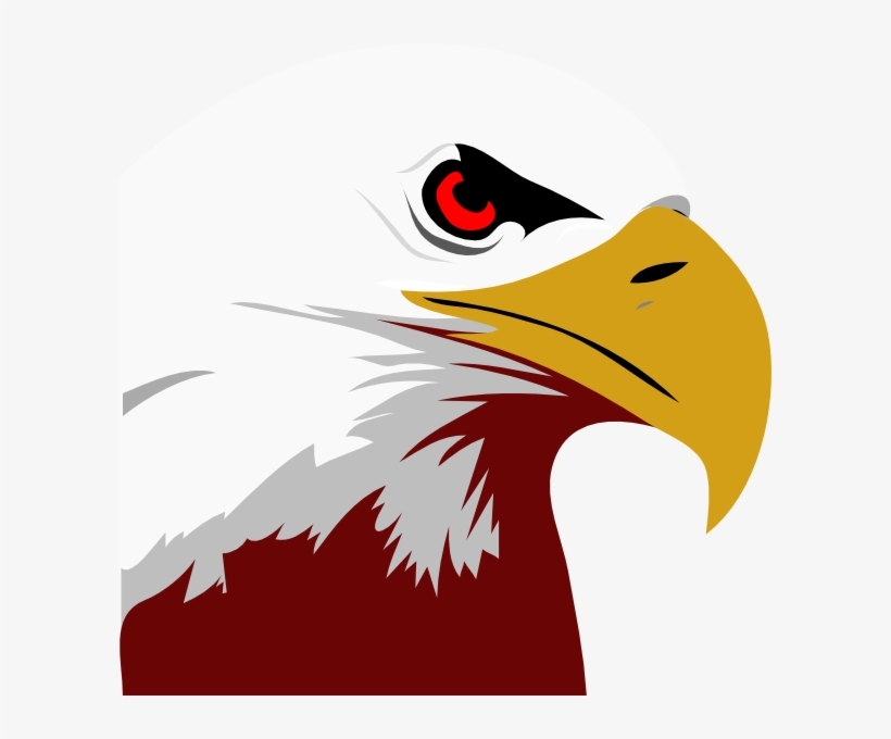 Red White Eagle Clip Art - Bald Eagle Black And White Clipart - Free