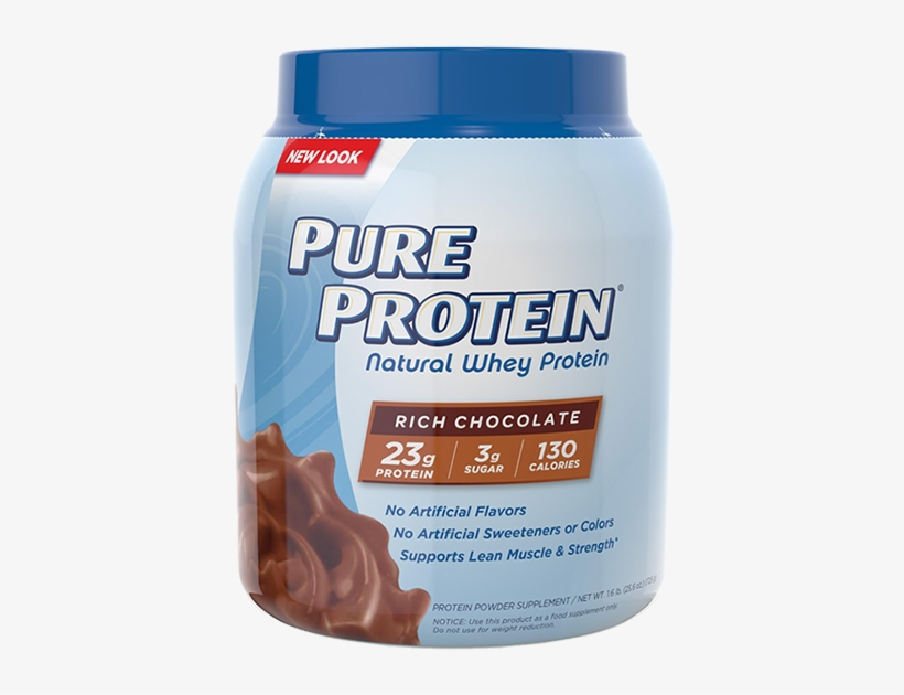 At A Glance - Pure Protein Natural Whey Protein, transparent png #4730177