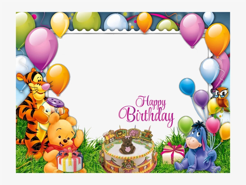Birthday Frame - Happy Birthday Cartoon Frame, transparent png #4731201