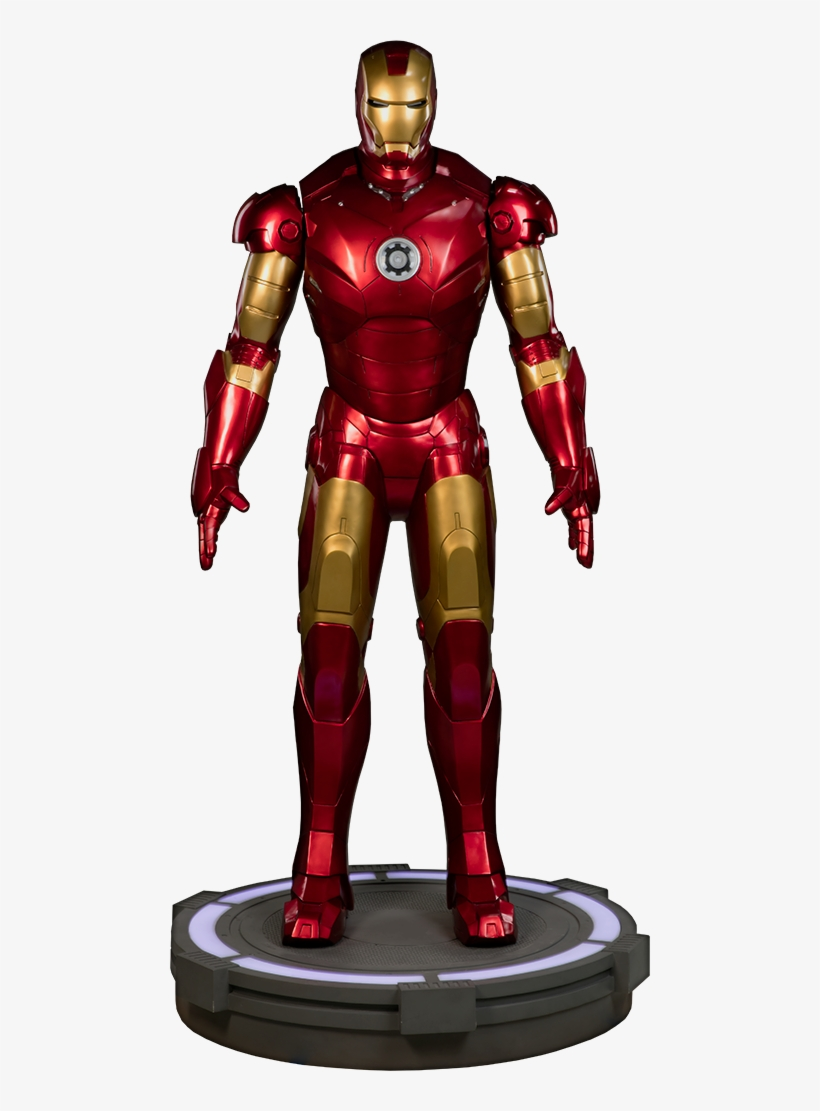 Iron Man Mark Iii Life-size Figure By Sideshow Collectibles - Iron Man - Mark Iii Life Size Statue, transparent png #4744932