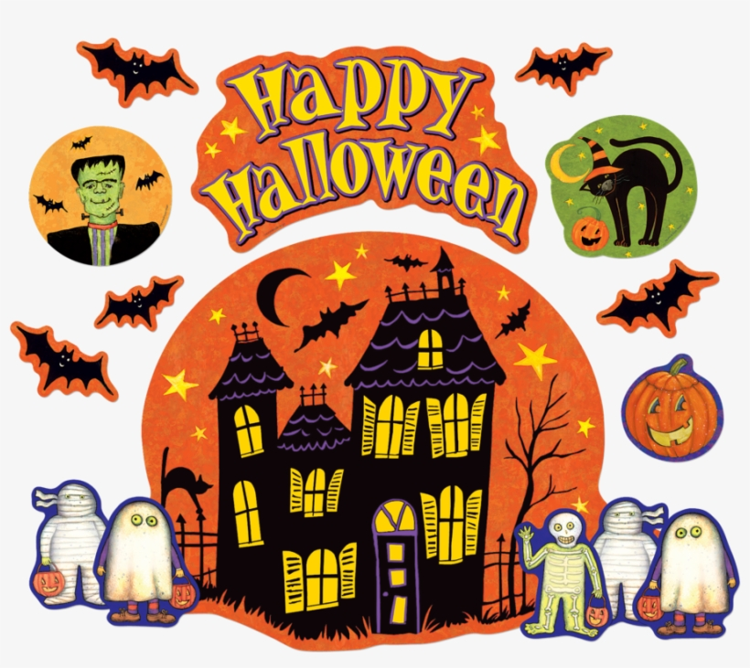 Tcr4796 Happy Halloween Bulletin Board From Susan Winget - Happy Halloween Bulletin Board, transparent png #4745605