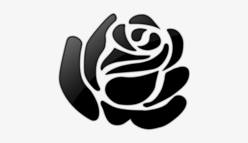 White Rose Clipart Rose Outline Stencil Of Rose Drawing Free