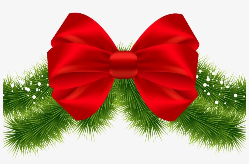Christmas Bow Tie Png Transparent Library Techflourish - Transparent Christmas Ribbon Clipart, transparent png #4754817