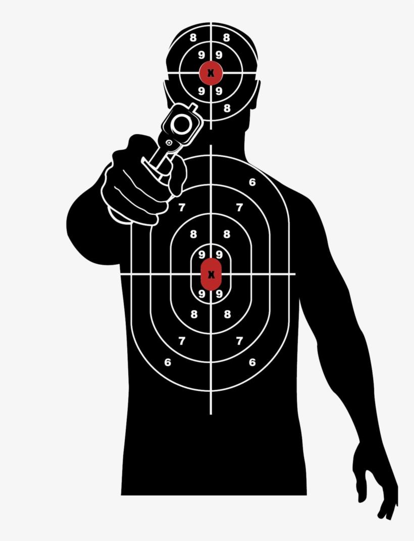 Target Png Download Png Image With Transparent Background Black Gun Target Free Transparent Png Download Pngkey