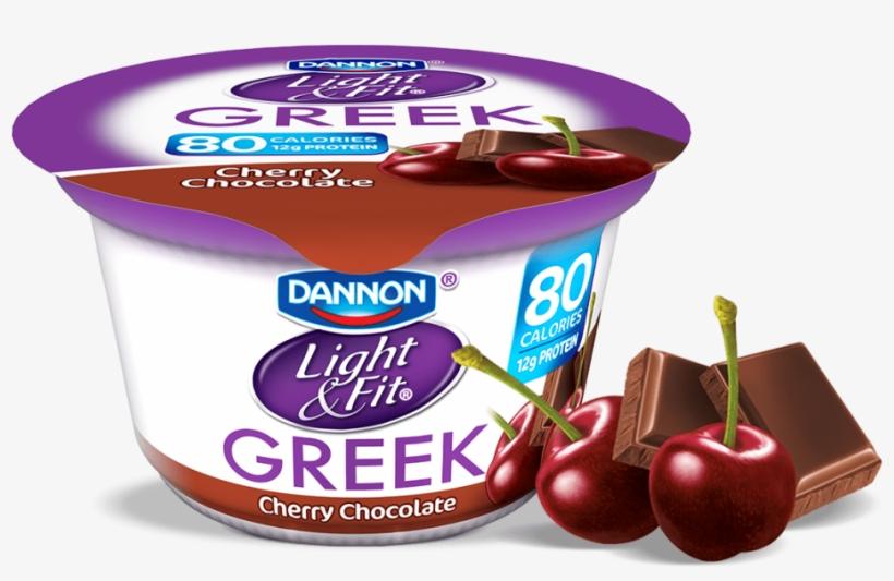 Cherry Chocolate Greek Yogurt - Dannon Light And Fit Greek Yogurt, transparent png #4756903