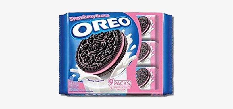 Oreo Sandwich Strawberry - Oreo Strawberry Cream Cookies, transparent png #4757693