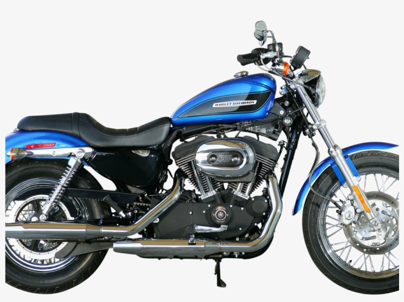 Blue Harley Davidson Motorcycle Bike Side View Png - 2001 Harley Davidson Motorcycle, transparent png #4759431