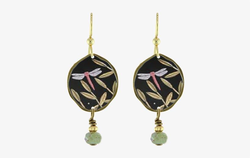 Dragonfly Drop Earrings - Örhängen Frida Kahlo Silver Feminist Symbol Feminism, transparent png #4768305