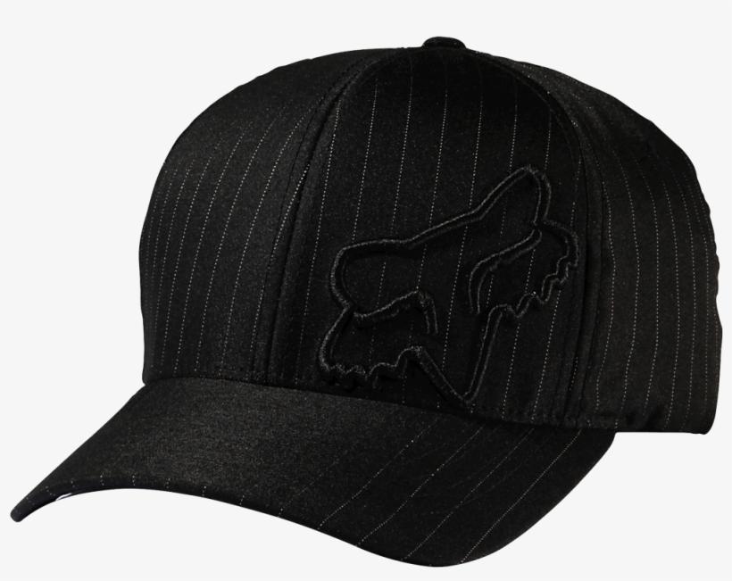 Fox Clothing Flex 45 Flexfit Hat, Black Pinstripe - Fox Flex 45 Flexfit Cap Black Men, Size Lxl, Hat, transparent png #4775731
