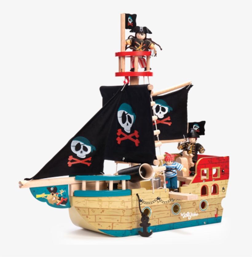 Pirate Ship Png Transparent Image Freeuse Library - Le Toy Van Jolly Pirate Ship, transparent png #4776652