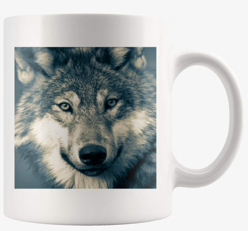 Wolf Head - White Mug - Animals In Nature High Quality, transparent png #4777213