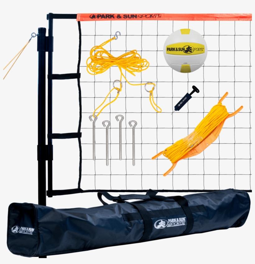 Park & Sun Tournament Flex Volleyball Net System - Park Sun Sports Spiker Sport- Portable Outdoor Volleyball, transparent png #4777517