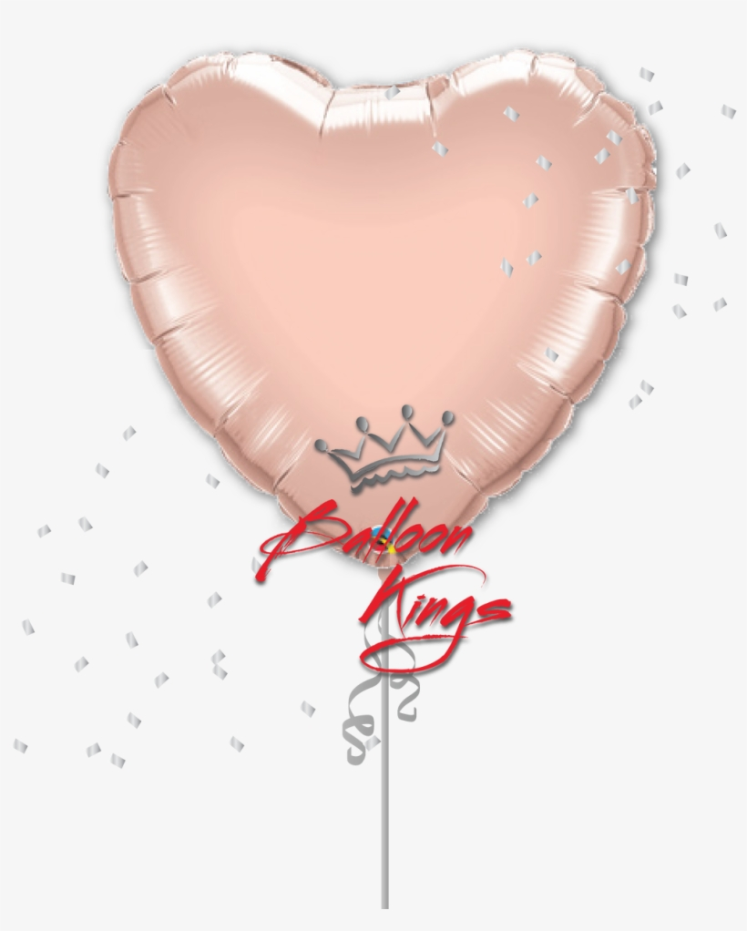 Rose Gold Heart Png Clip - Rose Gold Heart Shaped Balloons, transparent png #4782185
