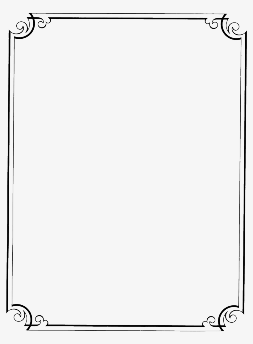 Fancy Borders - Page Border Design In Black And White, transparent png #4789088