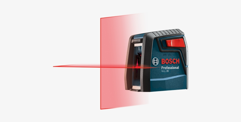 Gll 30 S - Bosch 30' Self-leveling Cross-line Laser Gll30-rt, transparent png #4789089
