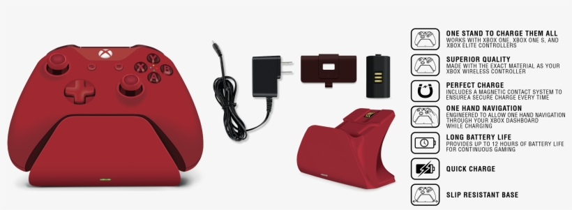 Xbox Pro Charging Stand - Controller Gear Xbox Pro Charging Stand (oxide Red), transparent png #4793744