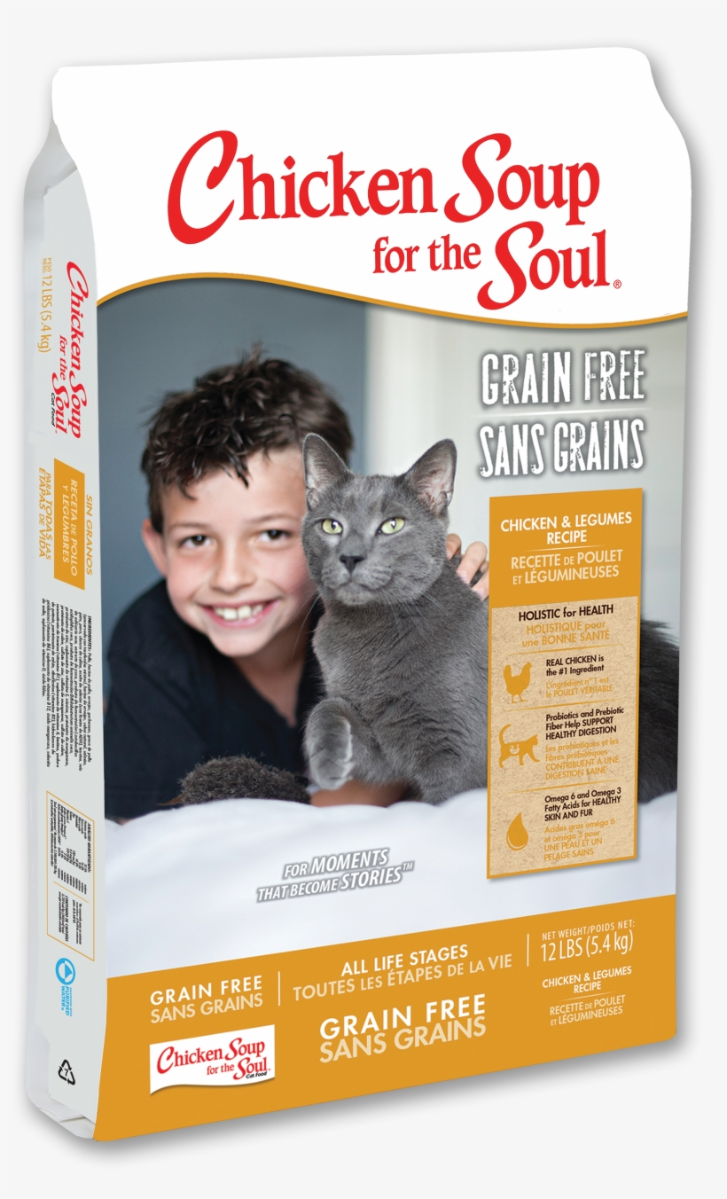 Grain Free Cat Food - Chicken Soup For The Soul Cat Food Grain Free, transparent png #4795295