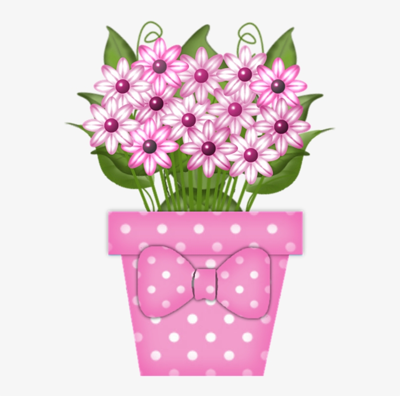 Flowers In Pot Png Pinterest Potted And - Flowers On A Pot Clipart, transparent png #4796679