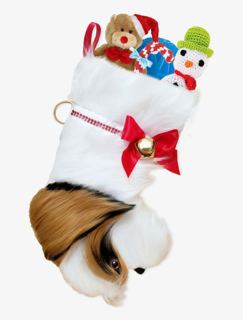 This Shih Tzu Shaped Dog Christmas Stocking Is The - Petlou Christmas Dog Toy Traditional Teddy Bear, 35, transparent png #4797970