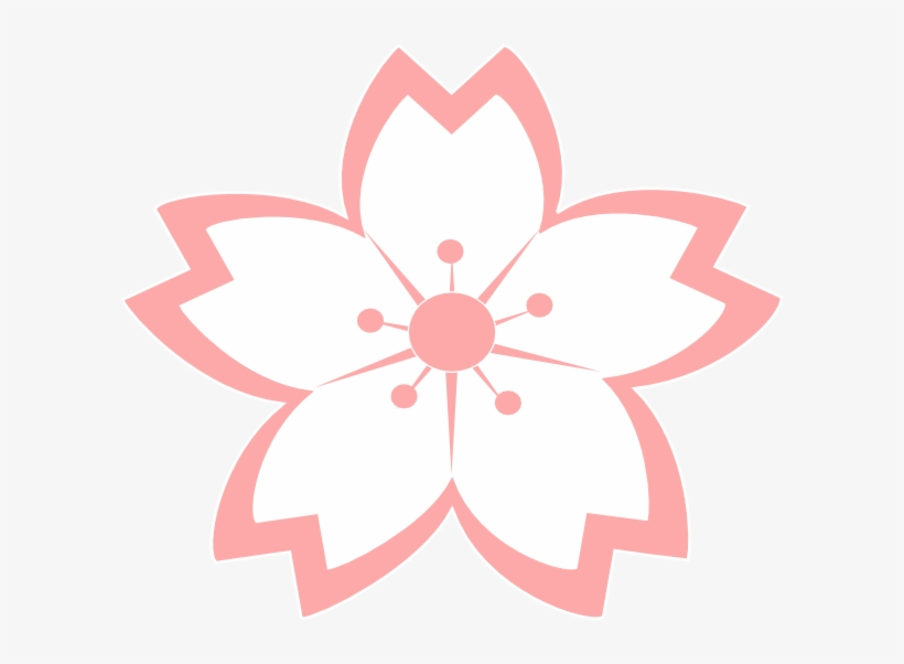 Cherry Blossom Vector, Japanese Party, Flower Clipart, - Sakura Flower Drawing Png, transparent png #4798407