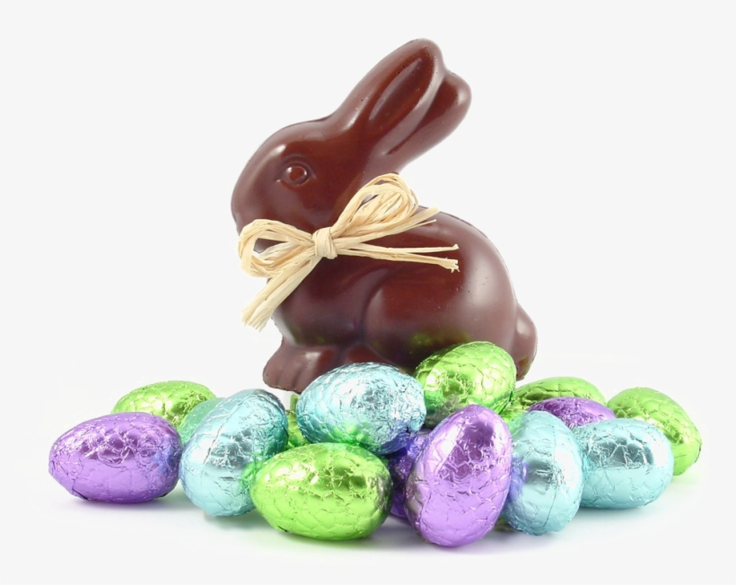 Easter Candy Png - Chocolate Bunny And Eggs, transparent png #4799705