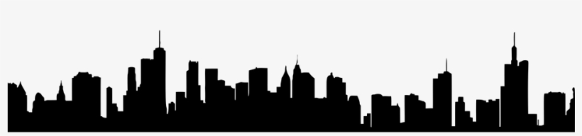 Miami Skyline Silhouette Png - Generic City Skyline Silhouette, transparent png #480175