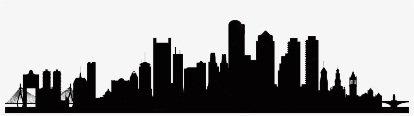 City Church - Boston City Skyline Silhouette, transparent png #480586