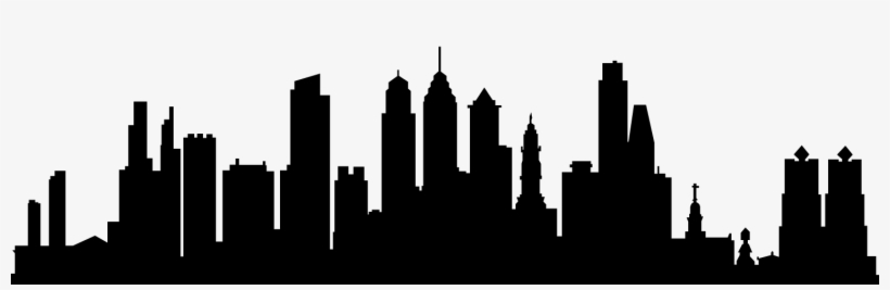Thesispowerpoint Clip Art Black And White Stock - City Skyline Silhouette Png, transparent png #481033