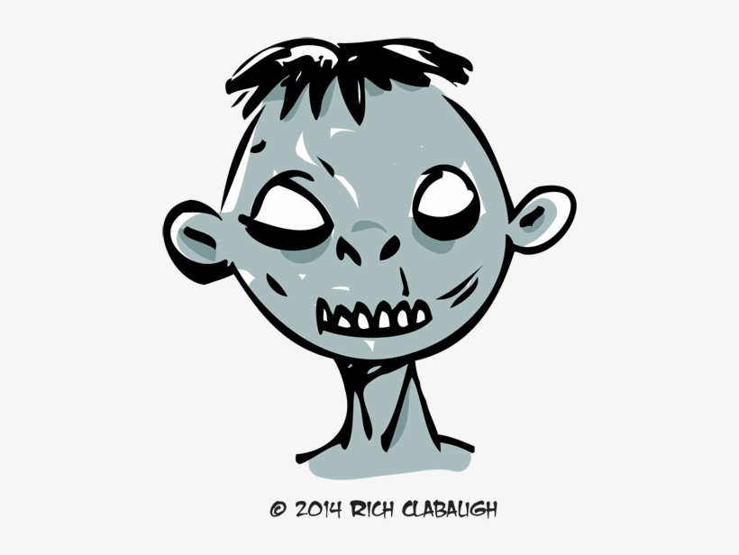 1008 Zombie 1 Monster Faces - Drawing, transparent png #481359
