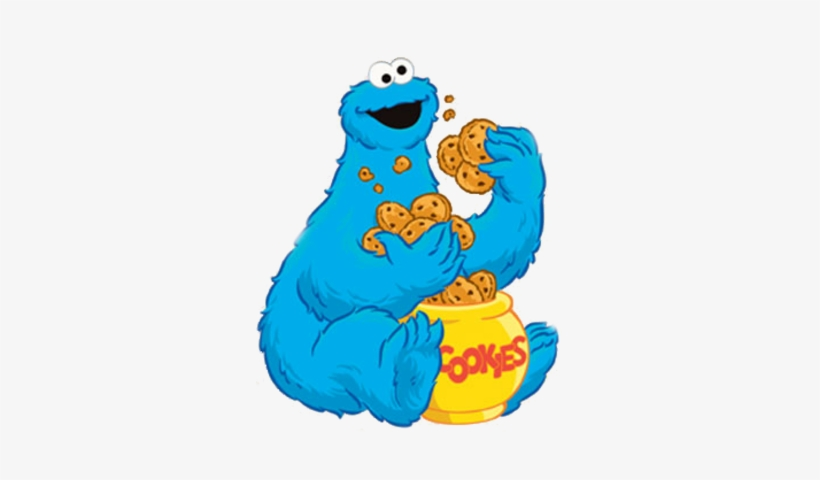 Face Clipart Cookie Monster - Cookie Monster Eating Cookies Clip Art, transparent png #481506