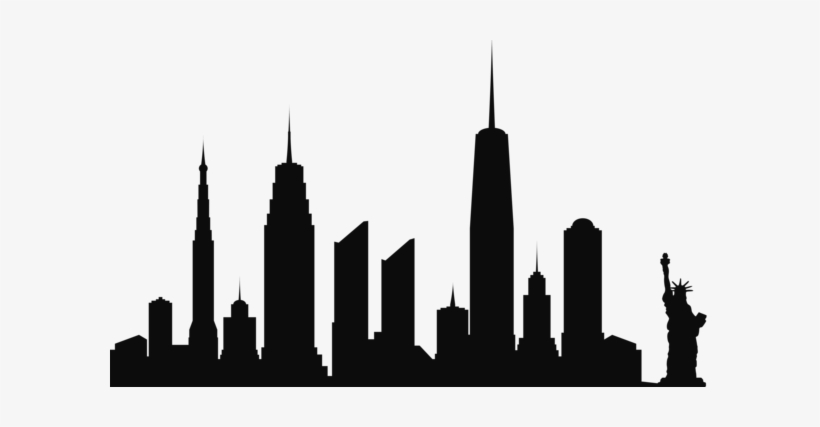 0, - Silhouettes Of New York City Skyline, transparent png #482341