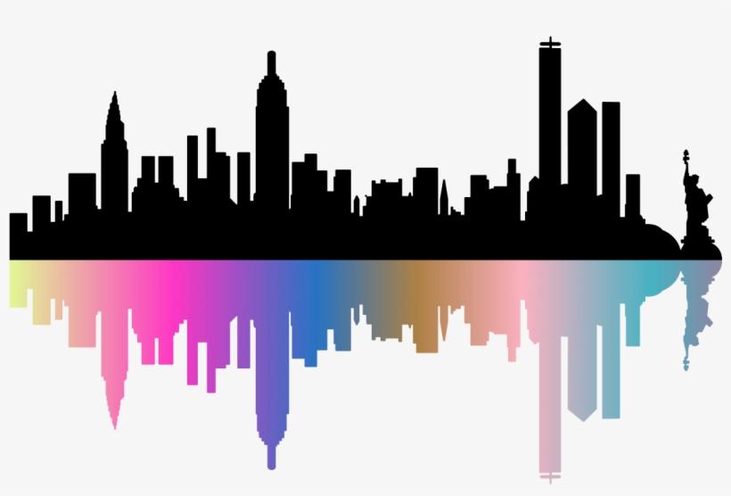 Sticker Skyline De Newyork Design Ambiance Sticker - Skyline New York Dessin, transparent png #482445
