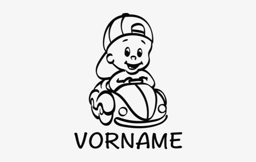 """Baby Autoaufkleber Mit Wunschname """"baby Im Auto"""" - Silhouette Baby Auto, transparent png #482674"""