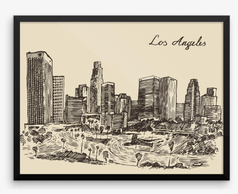 New York Skyline, Printable Art, New York Silhouette, - Los Angeles Skyline, transparent png #482775