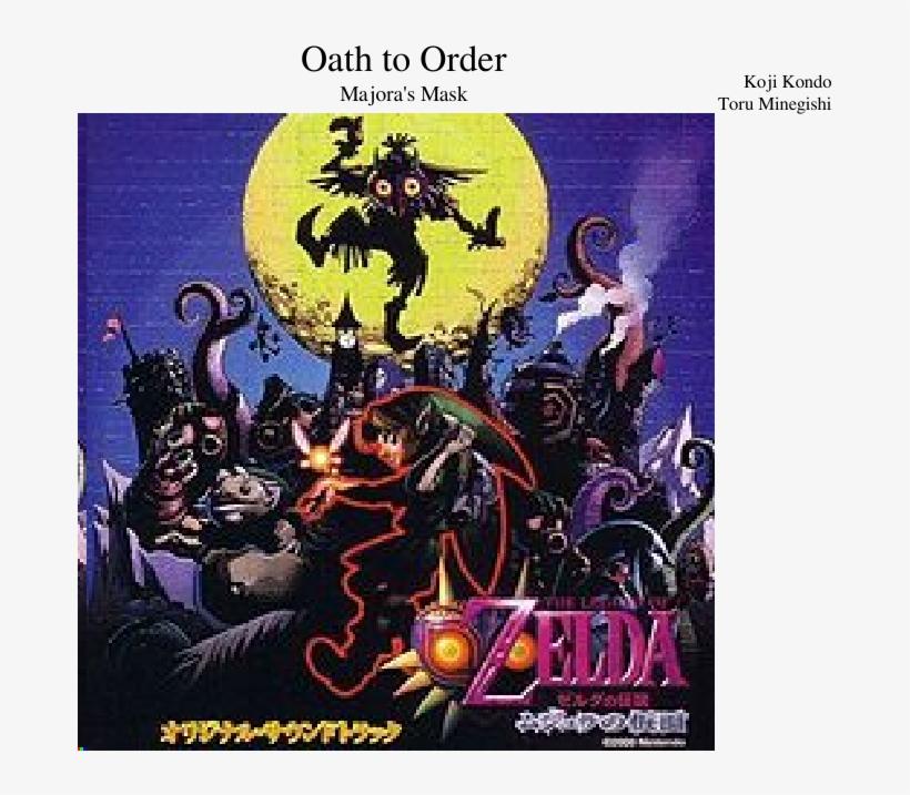 Oath To Order Sheet Music Composed By Koji Kondo Toru - Legend Of Zelda Majora's Mask Original Soundtrack, transparent png #482860