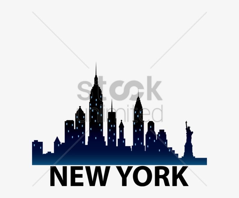 New York City Skyline Silhouette Vector Graphic - Silhouettes Of New York City Skyline, transparent png #483303