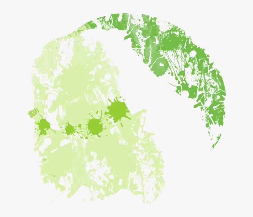 Chikorita Paint Splatter Graphics By Hollyshobbies - Transparent Green Paint Splatter, transparent png #484627