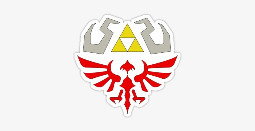 Legend Of Zelda Gold Black Zelda Logo Envelope Wallet, transparent png #485738