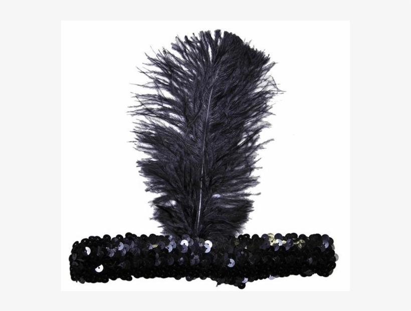 Morris 20s Headband - '20s Headband Adult Halloween Accessory, Black, transparent png #486838