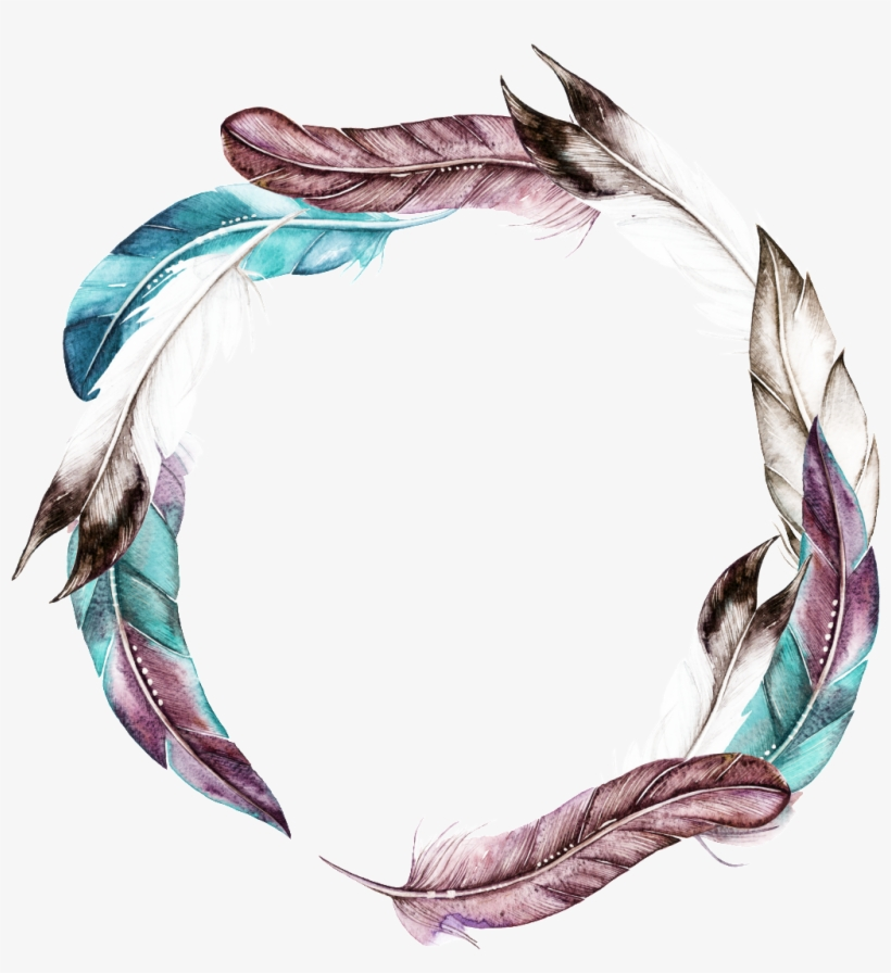 Colorful Hand Drawn Feathers Cartoon Watercolor Beautiful - Watercolor Painting, transparent png #487021