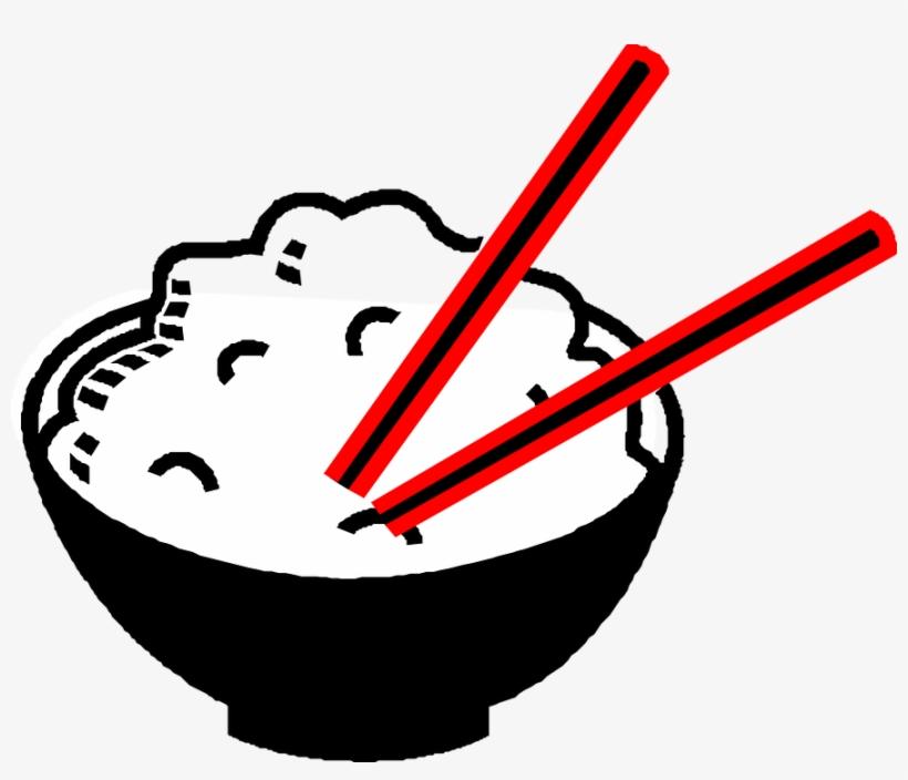 Rice, Bowl, Chopsticks, Asian, Food, Drawing, Chinese - Rice Clip Art, transparent png #487043