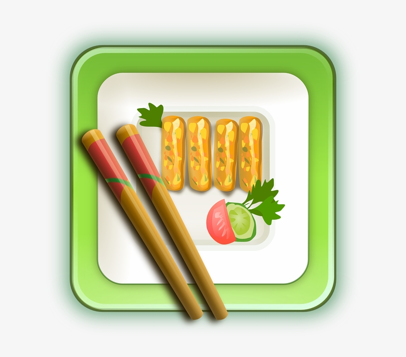 Chinese Food Clipart Sushi - Chinese Plate Foods, transparent png #487062