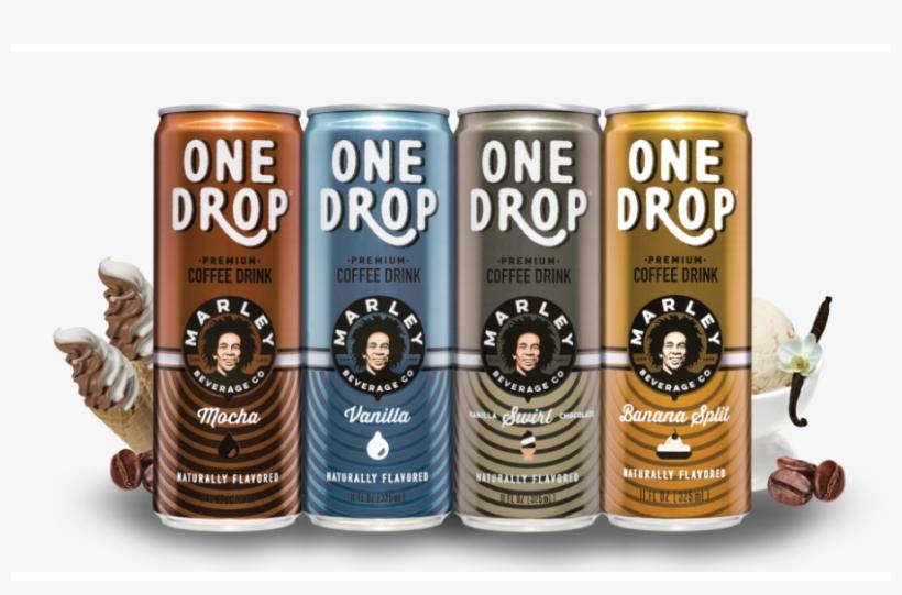 Bob Marley One Drop Premium Coffee Drinks 4 Flavor - Bob Marley One Drop Premium Coffee Drinks (mocha ), transparent png #487178