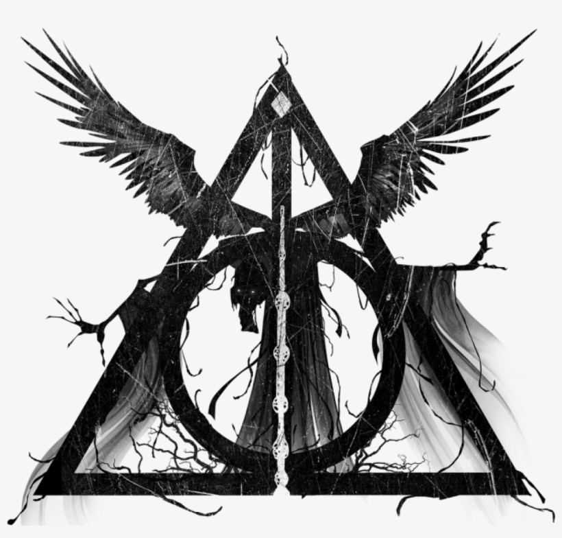 Clipart Freeuse Stock Dementor Drawing Easy - Deathly Hallows Symbol With Death, transparent png #489645